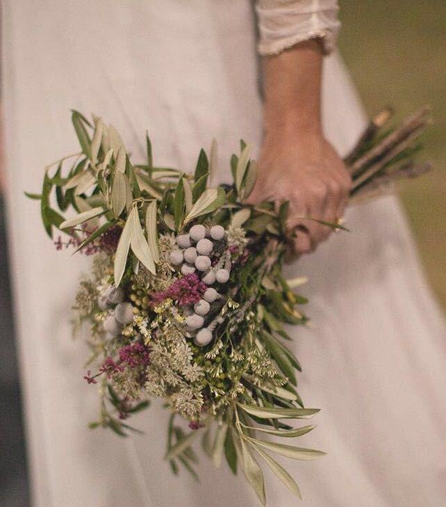 Ramo de novia con olivo