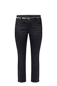 sateen black pants
