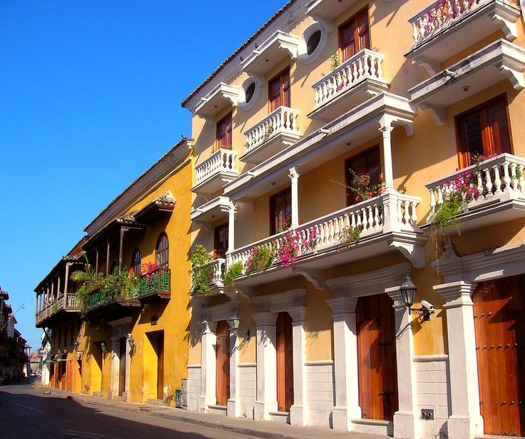 cartagena balconies, Colombia.