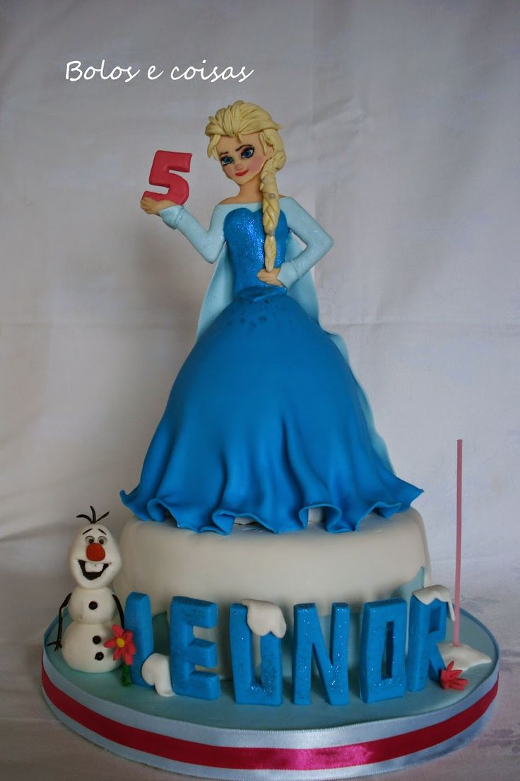 Frozen cake design images   best Cakes images on Pinterest  Birthdays Conch fritters and How