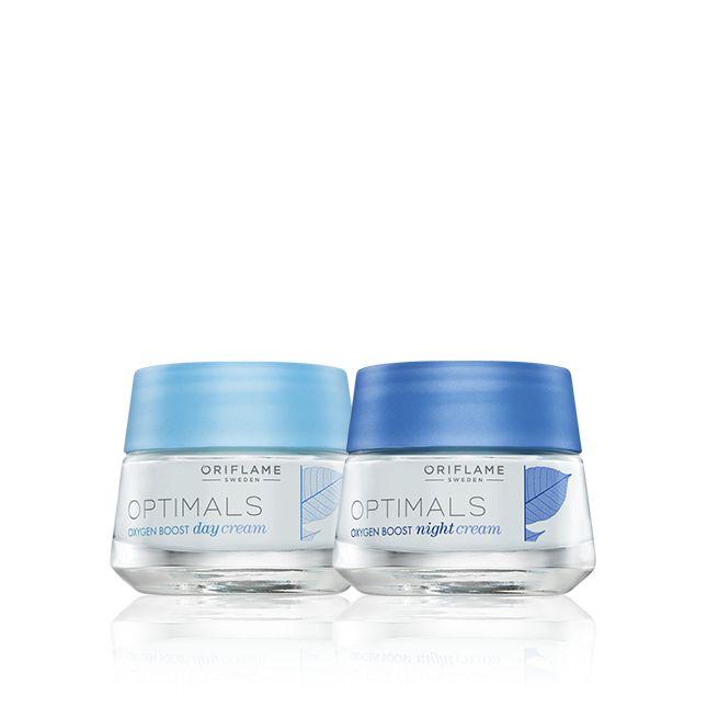 Set de Mini Tallas Crema de Día y de Noche para piel normal/ mixta Oxygen Boost Optimals #oriflame