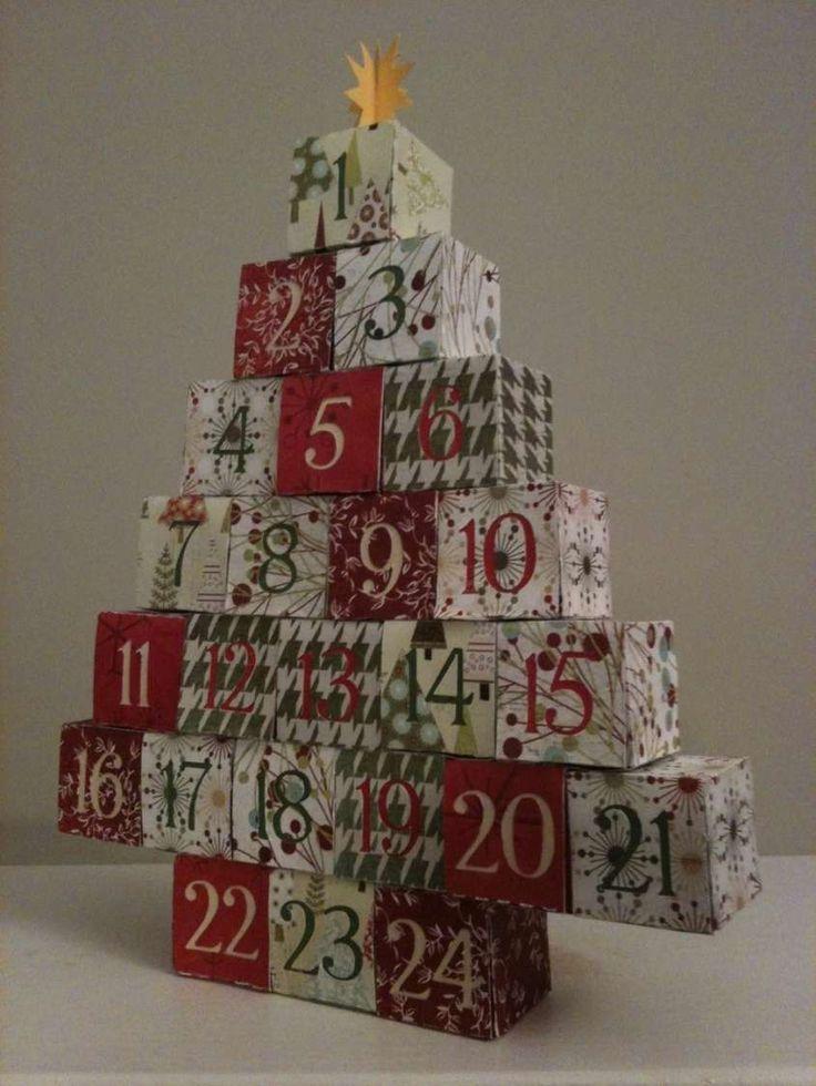 Calendario dell'avvento fai da te - Calendario dell'avvento fai da te scatoline colorate