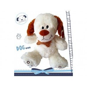 Perro de peluche blanco