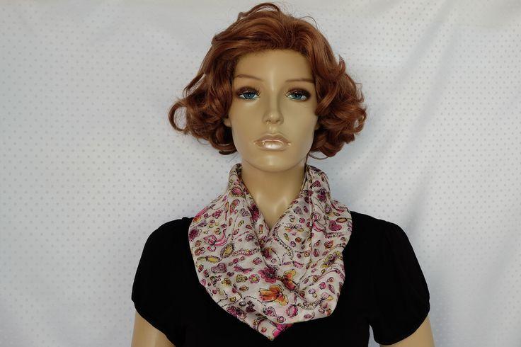 "Foulard en mousseline de soie style ""cartoon"" : Echarpe, foulard, cravate par iguana-creation"