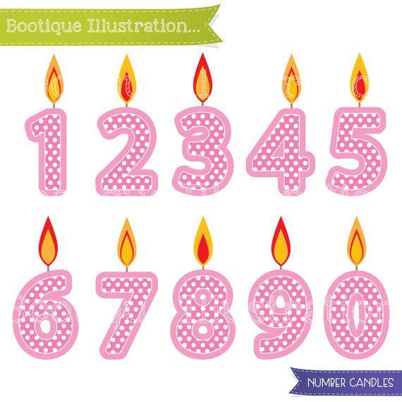 Pink 1st Birthday Polka Dot Candle: Best 20+ Birthday Clipart Ideas On Pinterest