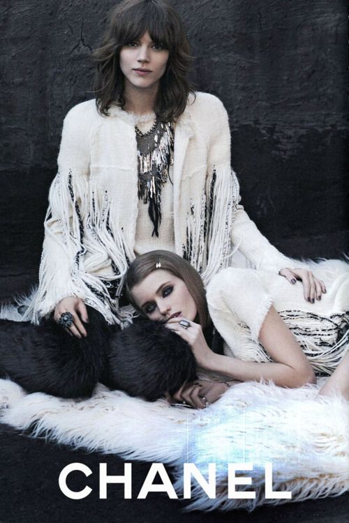 Chanel campaign with Freja Beha Erichsen and Abbey Lee Kershaw