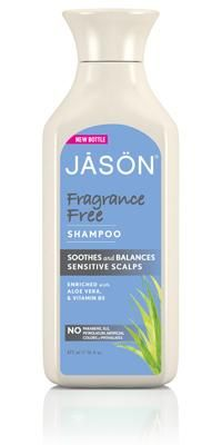 """Natural Fragrance Free Shampoo (JĀSÖN) [""""Our Fragrance Free Daily Shampoo gently cleanses without stripping away essential moisture. Chamomile (Matricaria) and Vitamin B5 soothe and hydrate while Sage Leaf Extract adds shine and manageability. Soothed and balanced, your hair feels silky soft with a healthy luster. Safe for color-treated hair and sensitive scalps.""""]"""