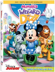 Check out this wonderful new movie from Disney, Minnie's The Wizard Of Dizz!  This is a great movie and includes 2 extra episodes of Mickey Mouse club house.