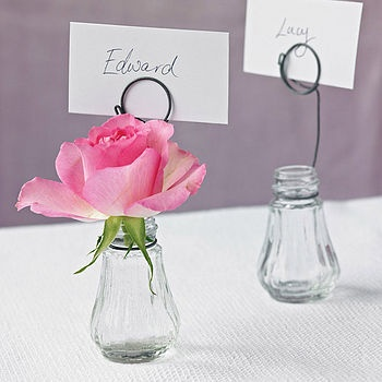 This would be fab for a dinner party and could easily be done with empty pesto jars...would have been adorable for the wedding.