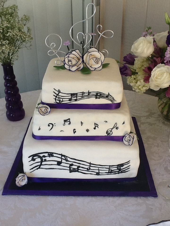 music themed wedding decorations 7th cake notes wedding fondant wedding cake 6073