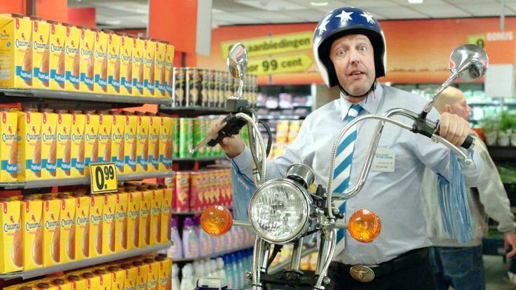 Winkelen, boodschappen doen, supermarkt: reclamevoorbeelden