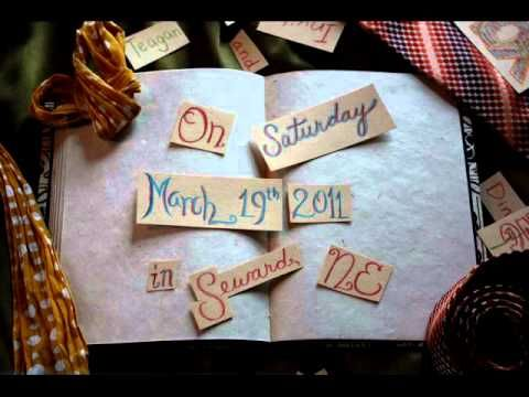 stop motion wedding invite... or for any kid of invitation or announcement.