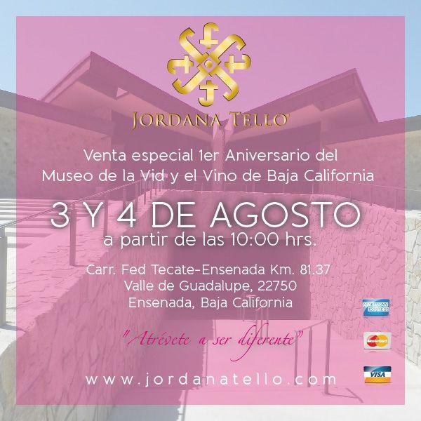 Estaremos presentes en el 1er Aniversario de la Vid y el Vino de Baja California este 3 y 4 de Agosto