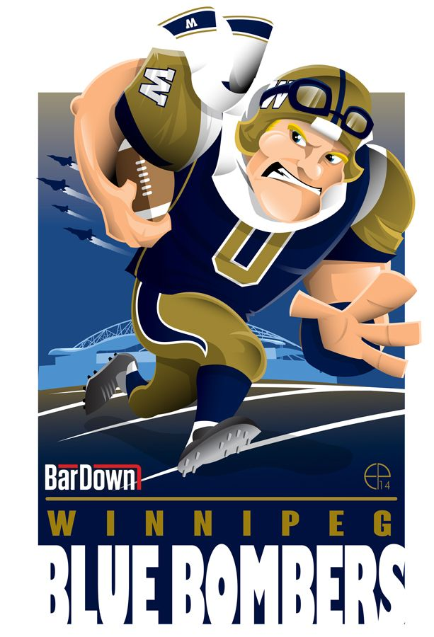 #EPoole88 (Eric Poole) is at it again, this time with the CFL. Here is his rendition for the Winnipeg Blue Bombers.