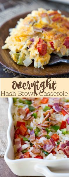 Overnight Hash Brown Casserole Recipe - love this for Thanksgiving breakfast!