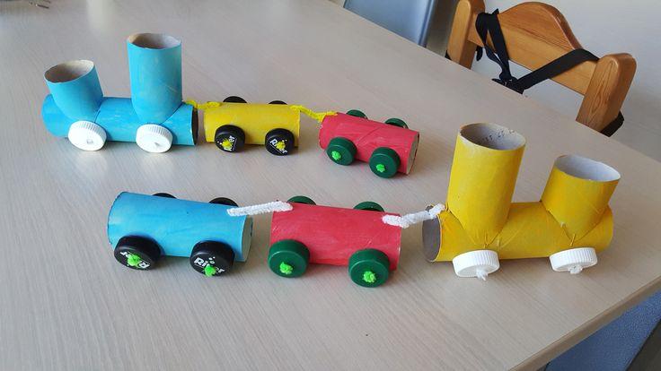 trein van wc-rolletjes