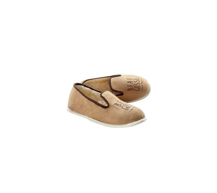 Papuče s vlnenou podšívkou a humoristickou potlačou | blancheporte.sk  #blancheporte #blancheporteSK #blancheporte_sk #vianoce #darcek #premuzov #moda