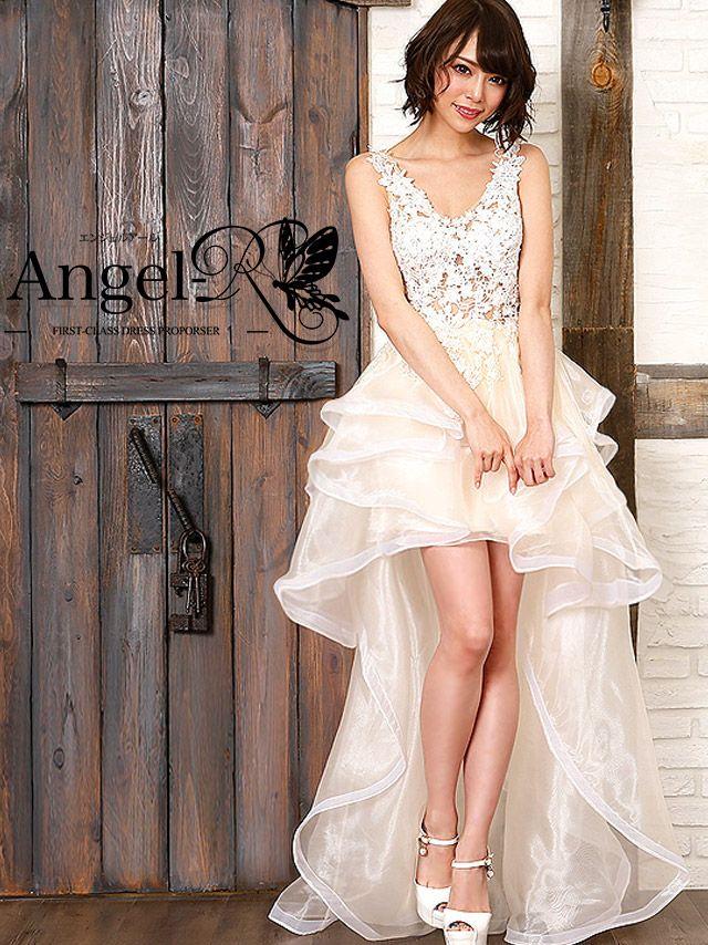 エンジェルアール Angel-R エンジェルアール angel-r ar7209 ノースリーブシースルーフラワーレースロングテールドレス(ホワイト) (Sサイズ)