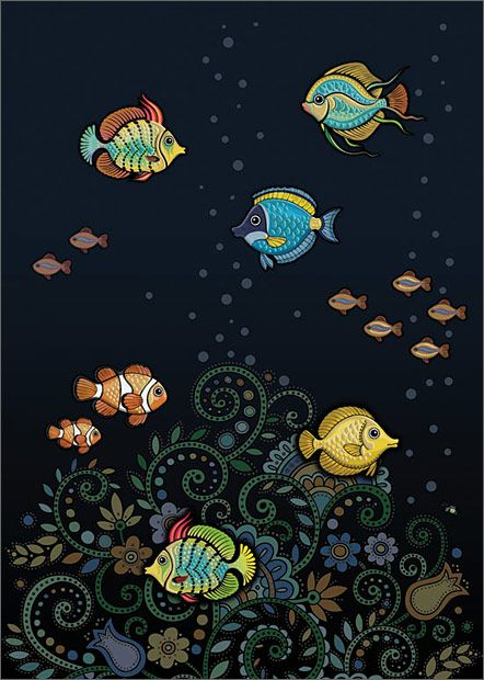 BugArt Jewels ~ Tropical Fish. JEWELS Designed by Jane Crowther.