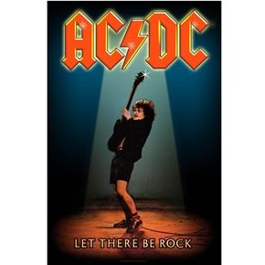 Official AC/DC fabric poster flag featuring In Let The Be Rock design.