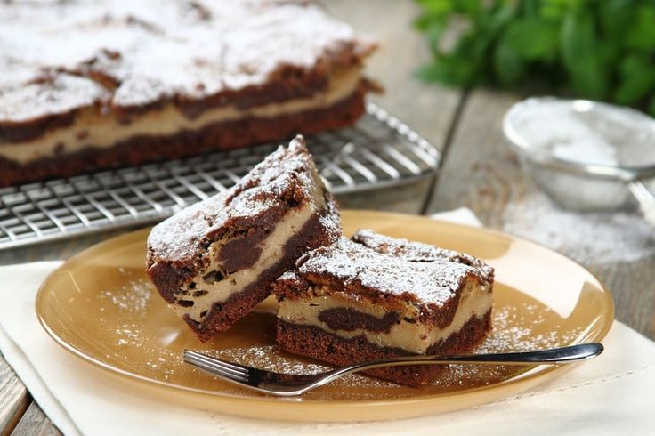Brownie z tiramisu.