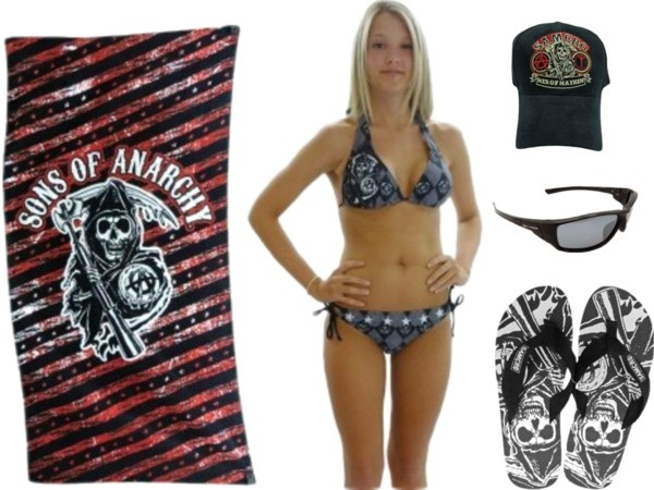 """Sons of Anarchy Beach Wear"" by calhounsports on Polyvore"