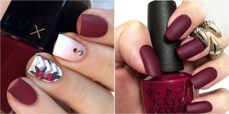 21 diseños de uñas en color burdeos o burgundy, ¡el tono de moda!