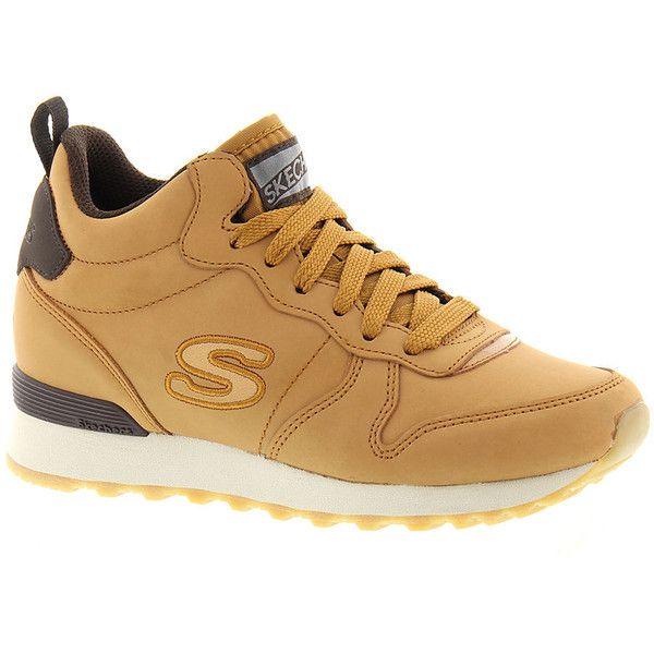 Skechers Sport OG 85 Street Sneak ($70) ❤ liked on Polyvore featuring shoes, wheat, skechers footwear, skechers shoes and skechers