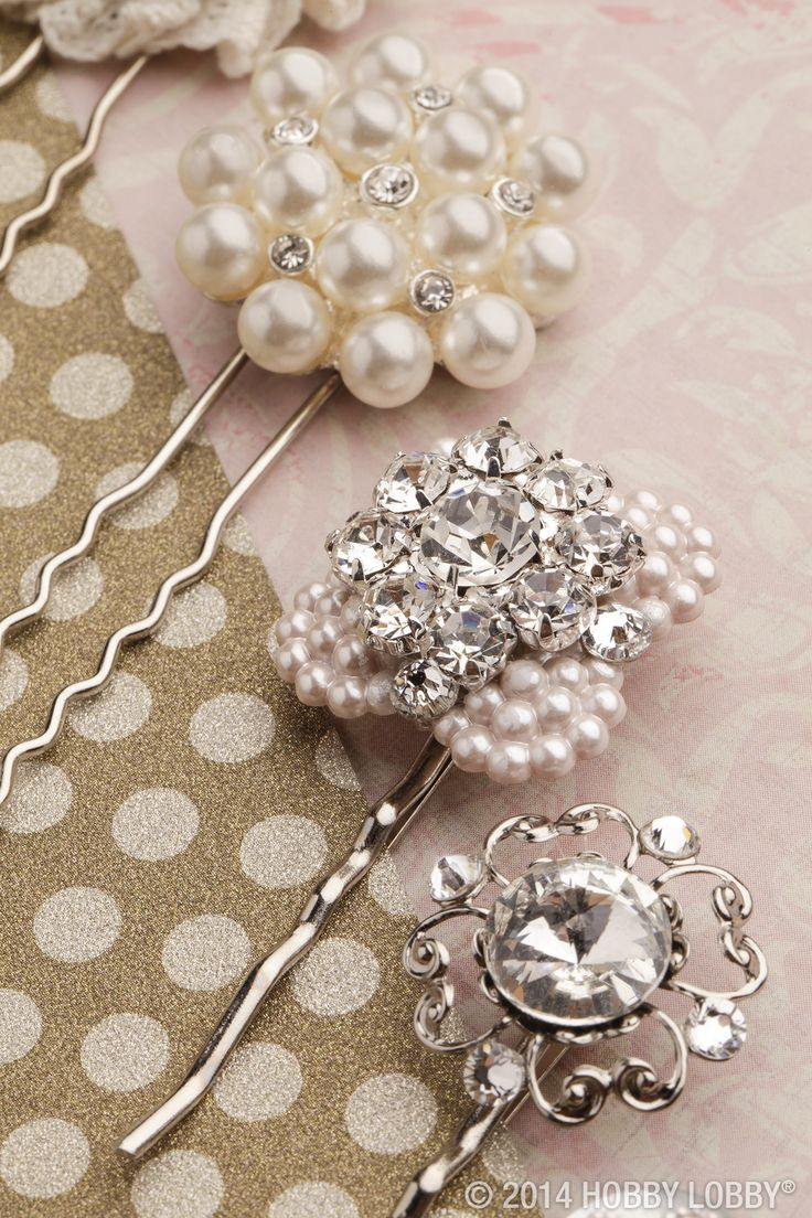 Whether you sweep your wedding-day tresses into a chic updo or let them loosely cascade around your shoulders, add some sparkle with vintage-style hair accessories.