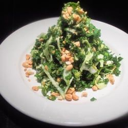 KALE SALAD Houston's Restaurant Copycat Recipe Peanut Vinaigrette: 1/2 cup peanut oil 2 tablespoons toasted sesame oil 2 tablespoo...