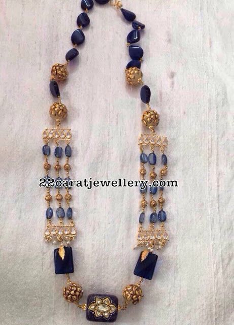 18carat gold light weight beads necklaces for all occasions fancy and contemporary necklaces