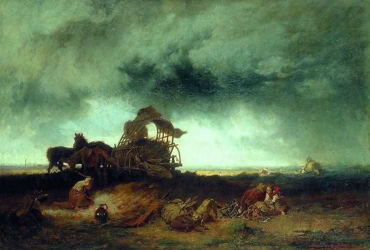 Munkácsy Vihar a pusztán 1867 - Munkácsy Mihály – Wikipédia