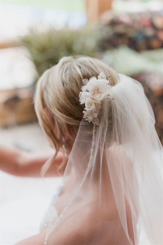 Chignons and low updos with veils | How to Wear a Veil With Every Wedding Hairstyle; #BridalVeil #WeddingWednesday #WeddingDay #BridalHair