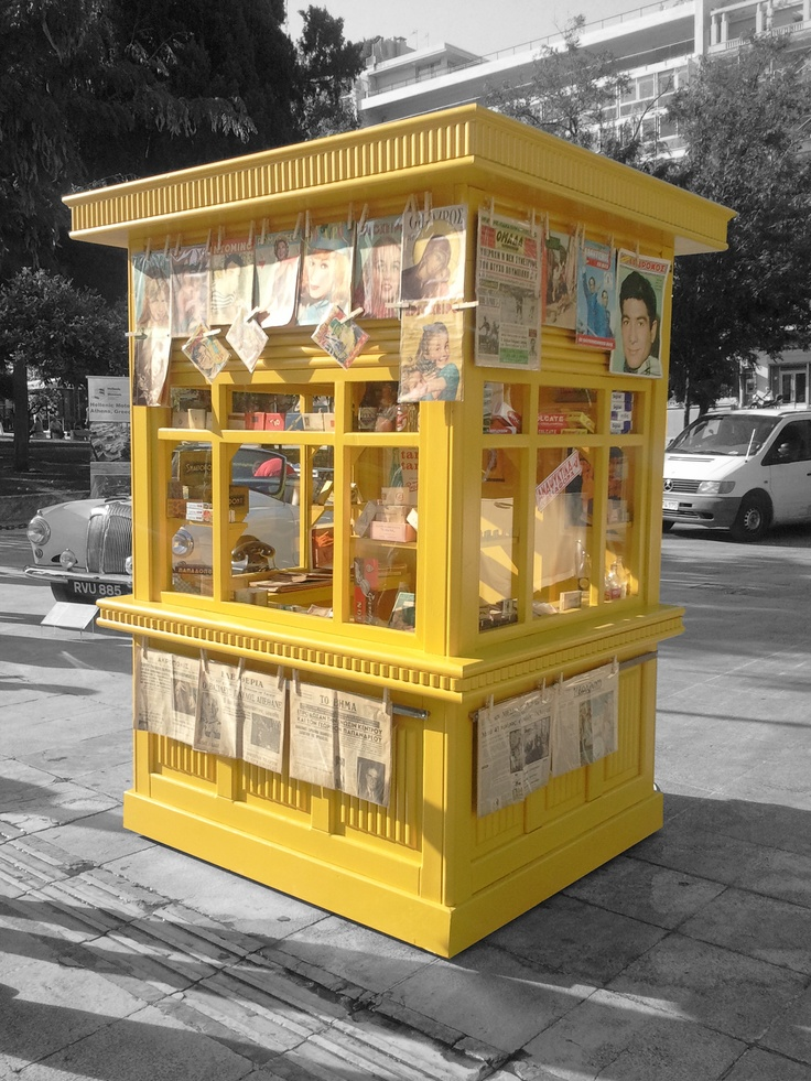 Newsstand in Athens, Greece (Periptero)