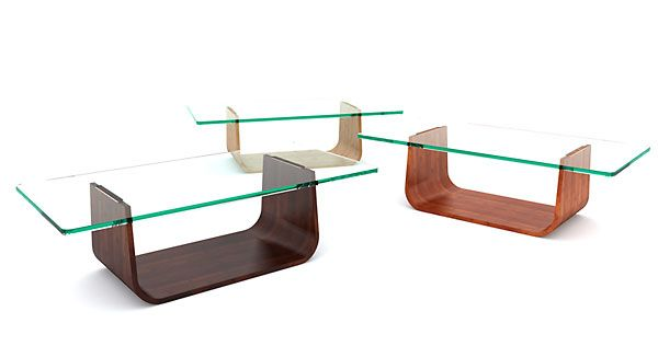 Mesa bambú cristal