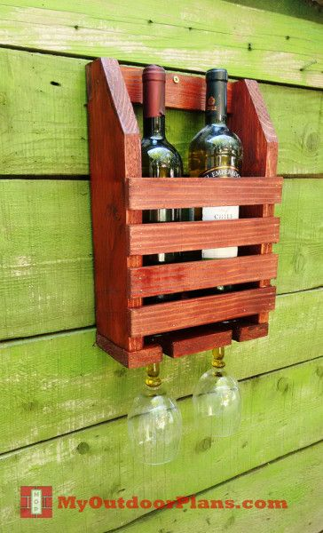 DIY Wine Shelf | MyOutdoorPlans | Free Woodworking Plans and Projects, DIY Shed, Wooden Playhouse, Pergola, Bbq