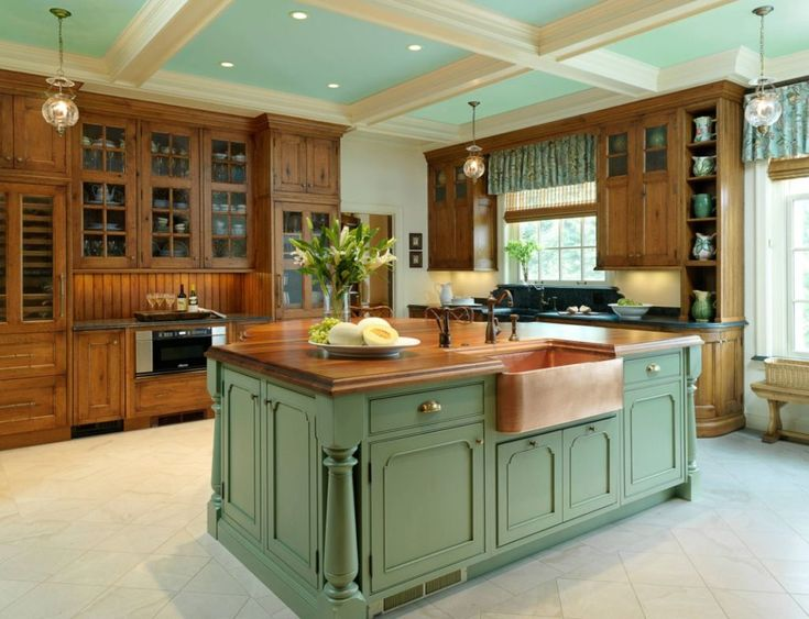 Invigorating Ways To Decorate With Green Kitchen Cabinets Green Kitchen Cabinets Kitchen Interior Modern Kitchen Gallery