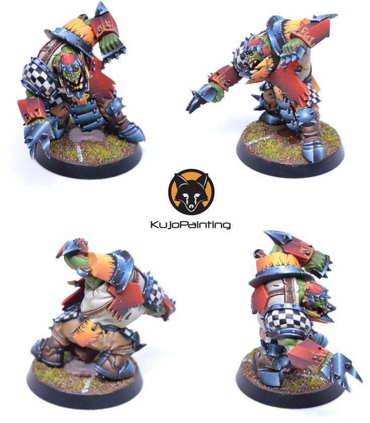Bloodbowl Ork Blitzer - KujoPainting