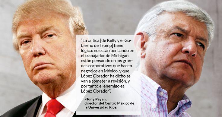 El Gobierno del Presidente de Estados Unidos, Donald Trump, observa que en México está en riesgo el apoyo que los electores han dado desde hace años a los partidos que aplicaron el modelo económico neoliberal, consideró el académico e investigador de política binacional, Antonio Payán Alvarado.