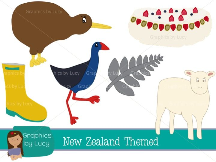 New Zealand themed clip art with commercial use. 20 PNG Images. Perfect for making resources to sell on TPT!    https://www.teacherspayteachers.com/Product/New-Zealand-Clip-Art-Set-20-PNG-Images-Personal-Commercial-Use-1732847