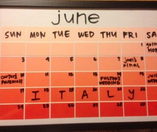 Paint Sample Calendar Diy : Easy diy pinterest crafts paint samples sample