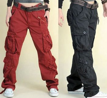 Kaki korte broek, vrouwen plus size casual losse broek broeken overalls vrouwelijke multi pocket broek