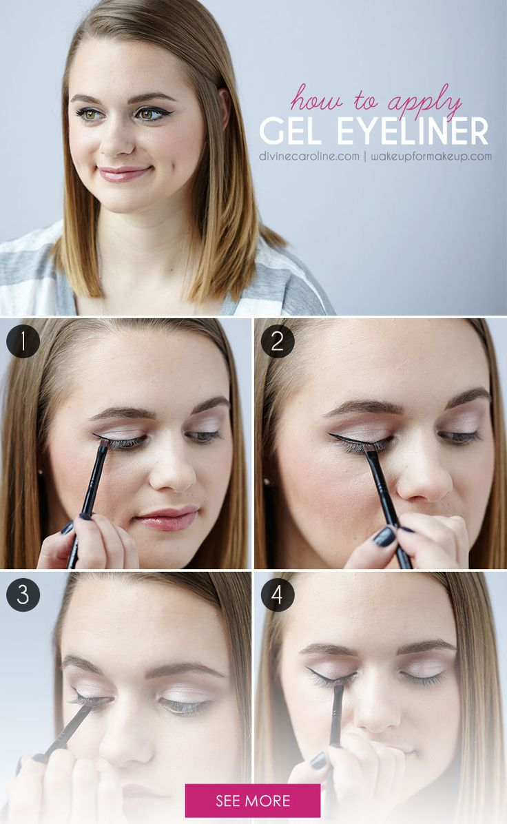 Applying gel eyeliner can seem scary, but it doesn't have to be. Our beauty blogger breaks down the steps for easy application and a flawless look in this tutorial. #geleyeliner #eyemakeup #tutorial