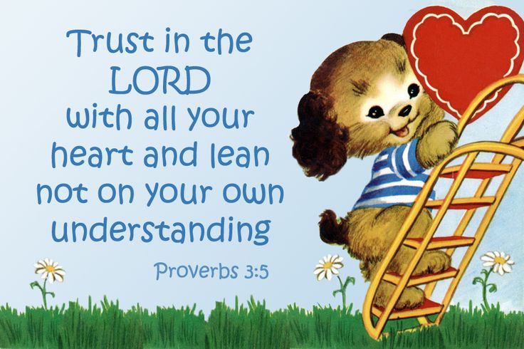 Trust in the Lord with all your heart Christian message card copy