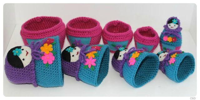 CHD: Russian Matryoshka Nesting Dolls Crochet Pattern