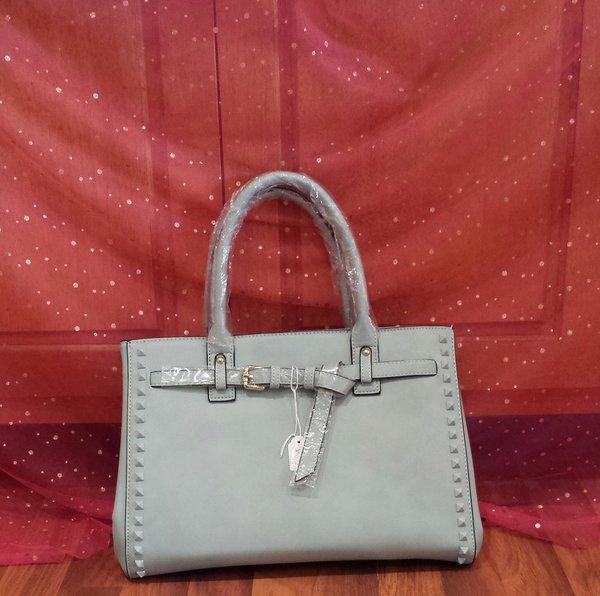 Susen Handbag Babyblue with Tie and Studs