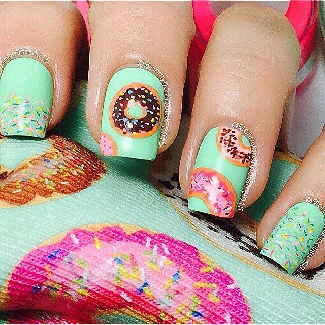 51 best donut nails images on Pinterest | Donas, Belleza del cabello ...