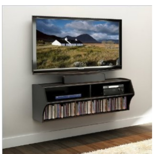 Mounted TV and  entertainment center