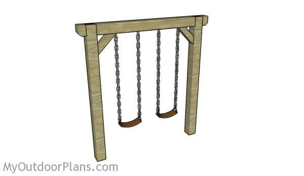 Simple swing set plans myoutdoorplans free woodworking for Child swing plans free