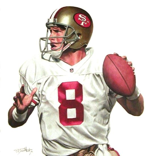 Steve Young, SF 49ers by Dean Huck.